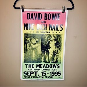 David Bowie x Nine Inch Nails tour poster